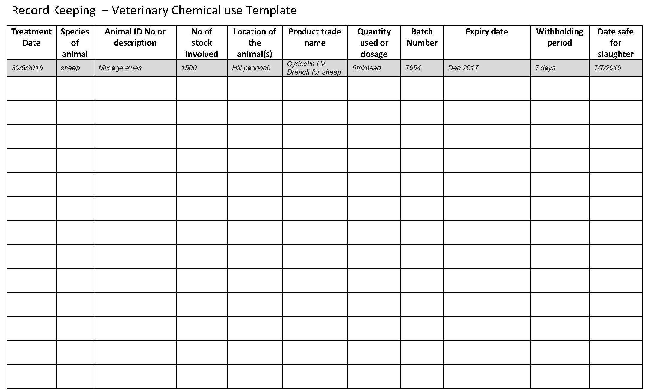 Record Keeping Template For Small Business And Bookkeeping Records Within Weekly Bookkeeping Template