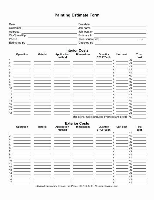 Residential Construction Budget Spreadsheet Fresh Residential With Residential Construction Estimate Form