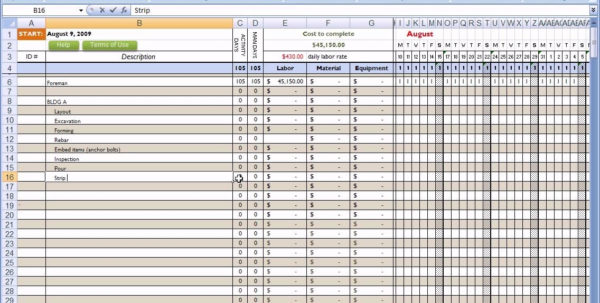 Residential Construction Budget Template Excel | Laobingkaisuo And With New Home Construction Estimate Template