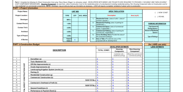 Residential Construction Budget Template Excel | Spreadsheet Collections Inside Residential Construction Budget Template