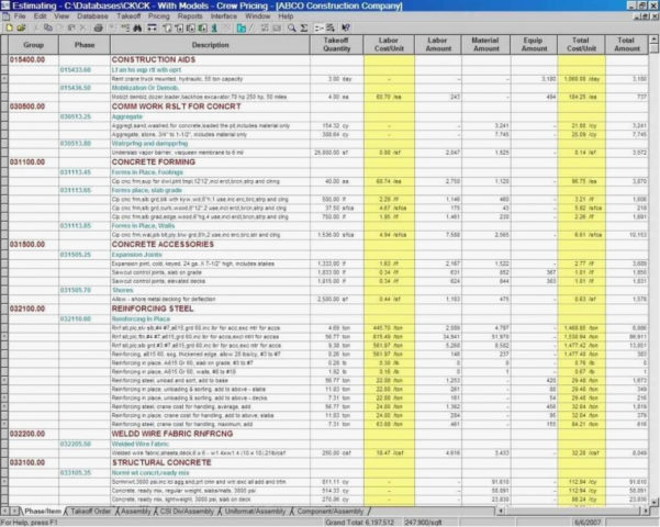 Residential Construction Estimating Spreadsheets In Excel Cos On And Construction Estimating Spreadsheets