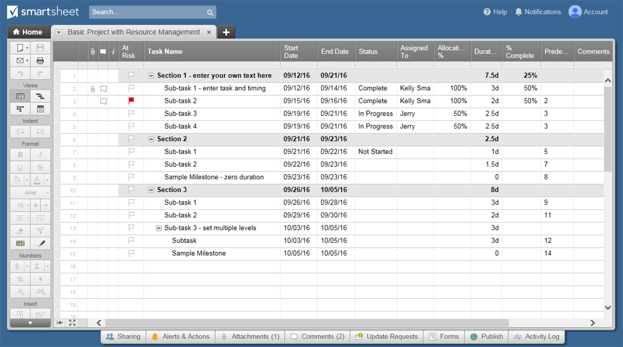 Resource Management 101| Smartsheet With Project Resource Management Spreadsheet