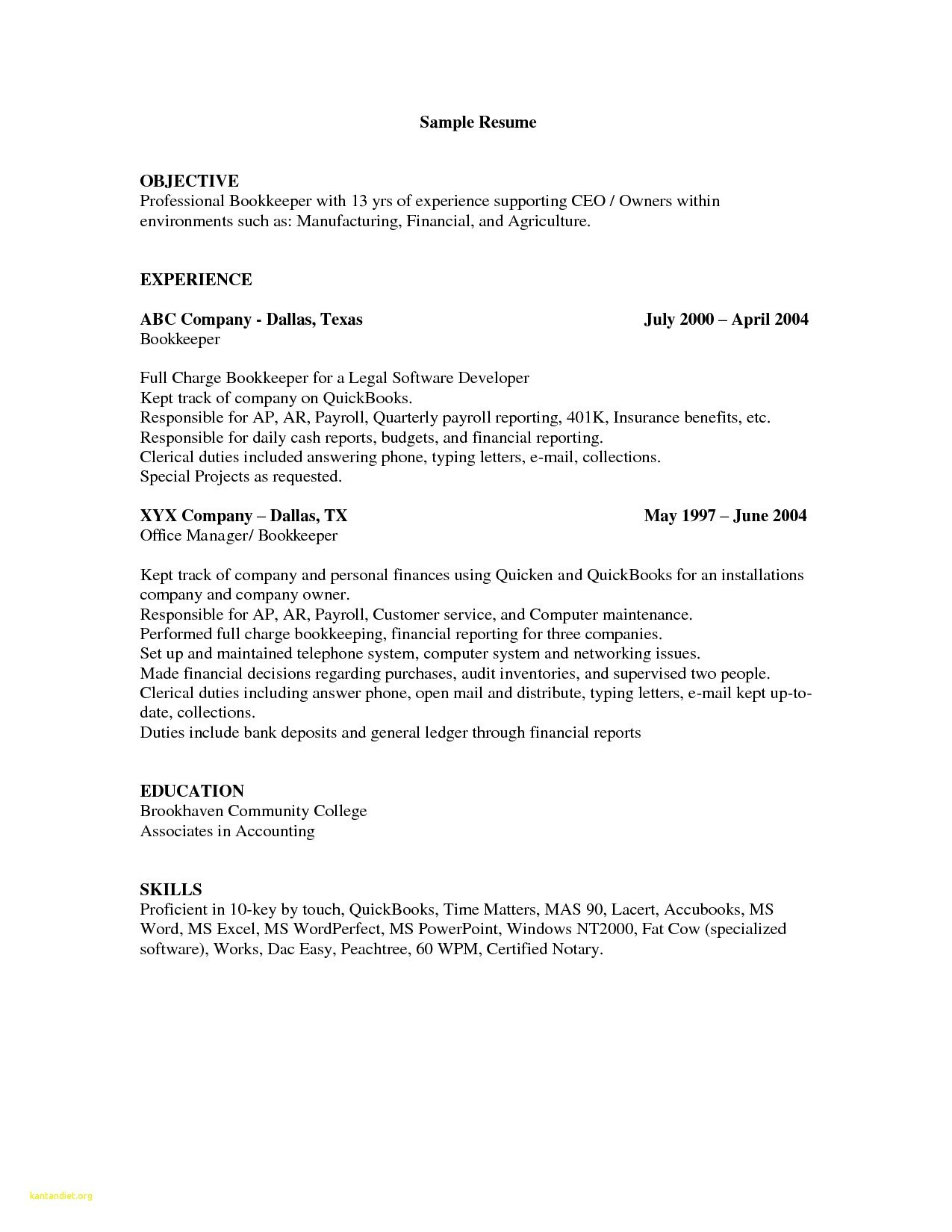 Resume : Bookkeeper Resume Save Bookkeeping Example Beautiful Sample In Bookkeeping Reports Samples