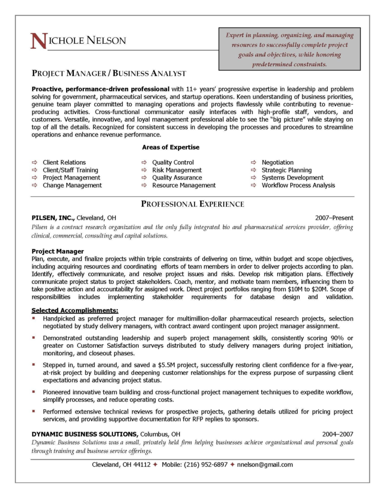 Resume : Project Management Resume Samples Recent Template Simple Intended For Project Management Resume Templates