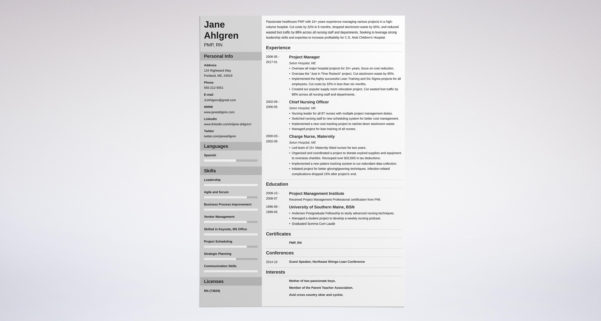 Resume Templates Project Manager Project Management Resume Resume Within Project Management Resume Templates