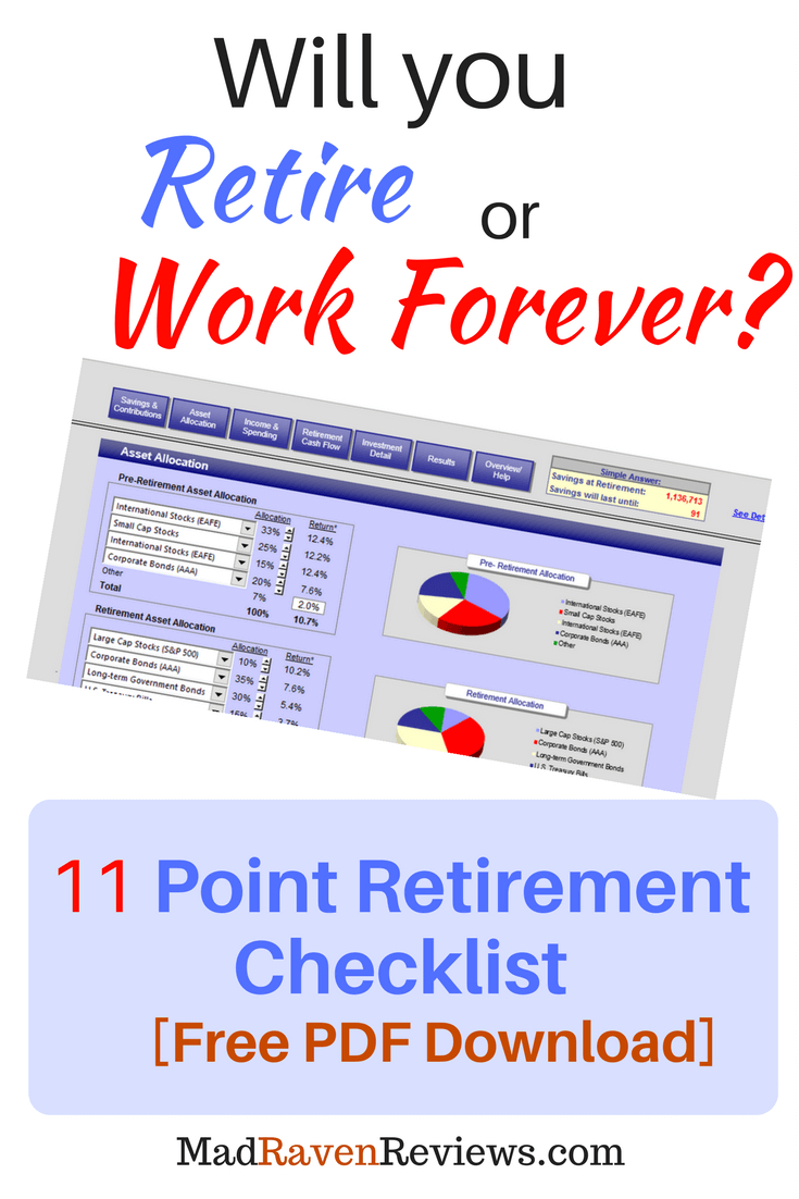Retirement Preparation Checklist [Free Pdf] With Calculator Intended For Retirement Calculator Spreadsheet