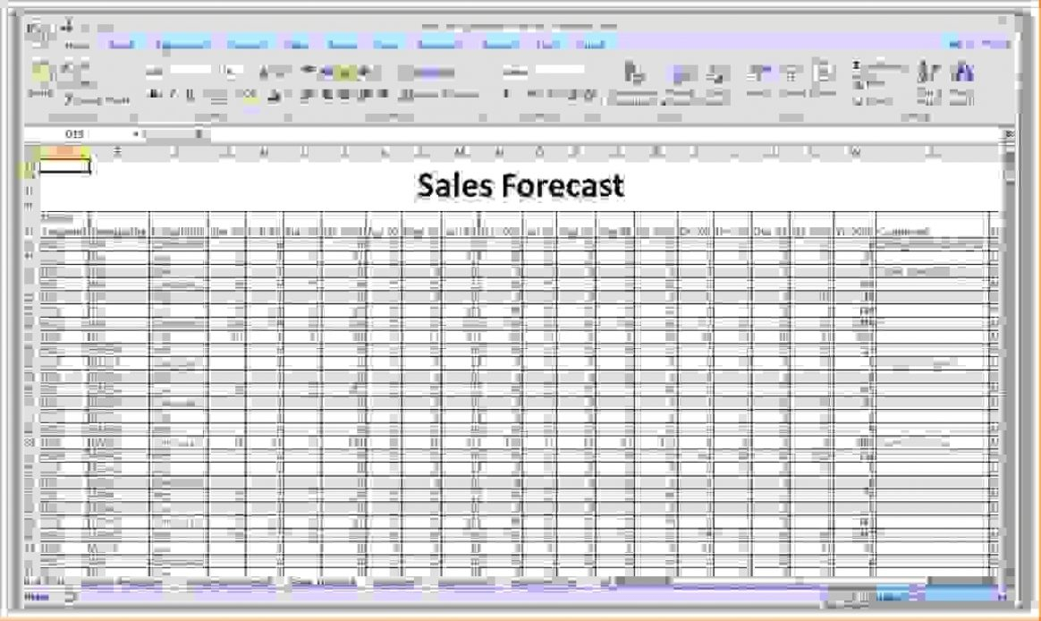 Sales Forecast Template 21 Favorable – Barakaventures With Simple Sales Forecast Template