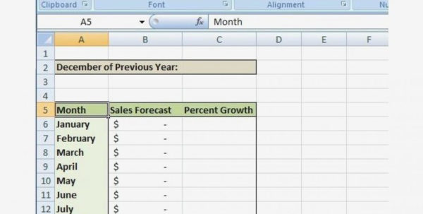 Sales Forecast Template Excel Plan Templates Printable Awesome Word Inside Simple Sales Forecast Template