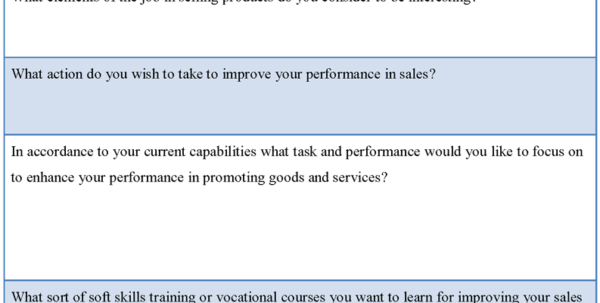 Sales Performance Form : Sample Forms In Sales Lead Template Forms