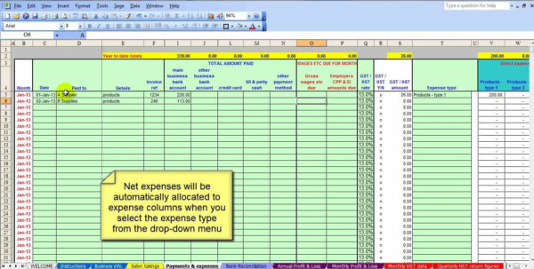 Salon Bookkeeping Spreadsheet | Job And Resume Template With Bookkeeping Spreadsheet Templates