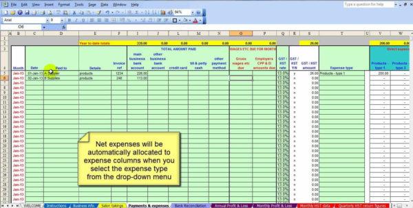 Salon Bookkeeping Spreadsheet   Job And Resume Template Within Bookkeeping Spreadsheet Free