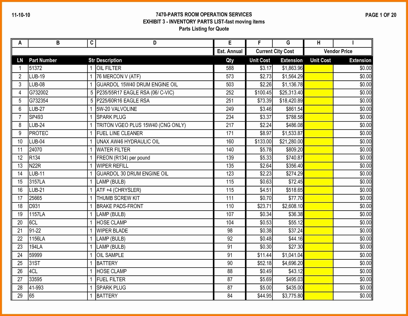 Sample Bar Inventory Spreadsheet | Khairilmazri Intended For Sample Inventory Spreadsheet