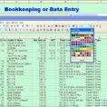 Sample Bookkeeping Spreadsheet Excel Jose Mulinohous On Templates With Spreadsheet Bookkeeping Samples