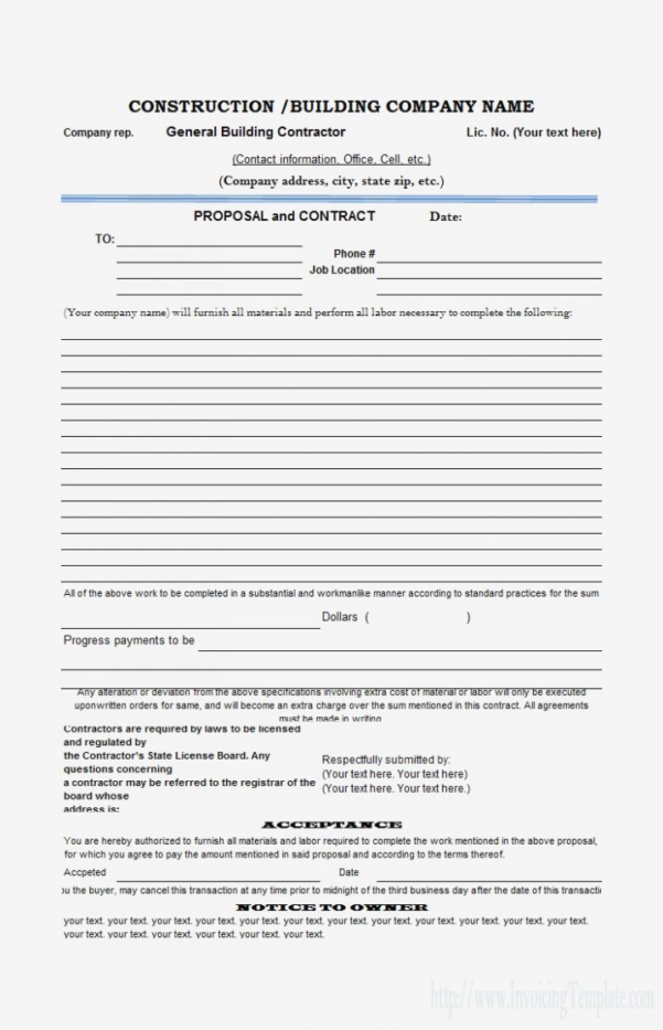 Sample Estimate Form Compatible Photograph Add Construction Proposal With Construction Estimate Form