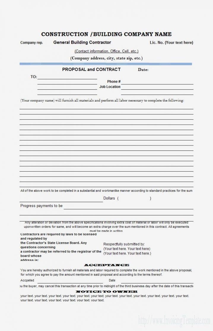 Sample Estimate Form Compatible Photograph Add Construction Proposal With Construction Estimate Form