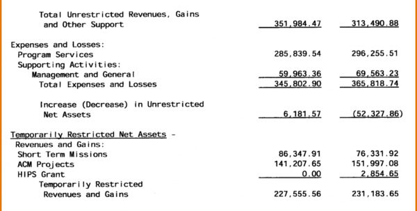 Samples Of Profit And Loss Statements And Profit Loss Statement For Profit Loss Spreadsheet Template Free