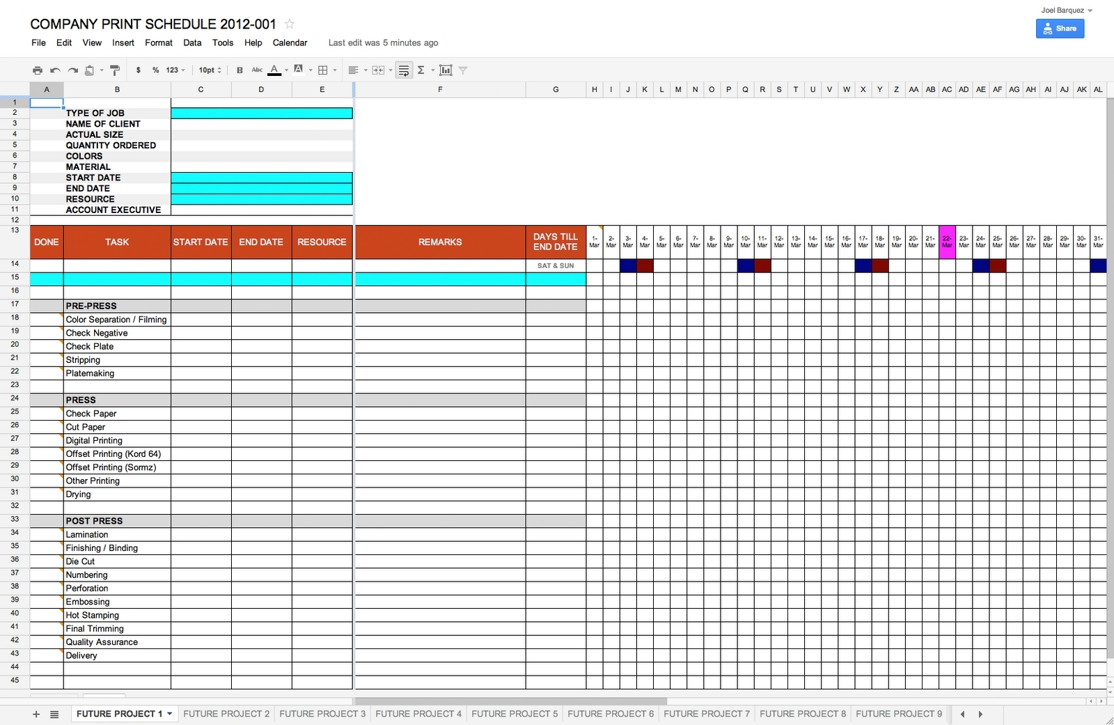 Schedule Template Google Docs | Schedule Template Free In Google And Project Management Spreadsheet Template Google Docs