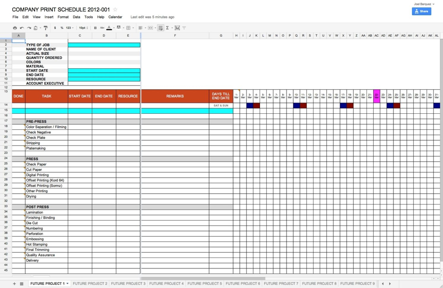 Schedule Template Google Docs | Schedule Template Free In Google With Project Management Google Spreadsheet Template