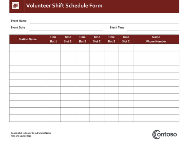 Schedules   Office For Employee Weekly Schedule Template