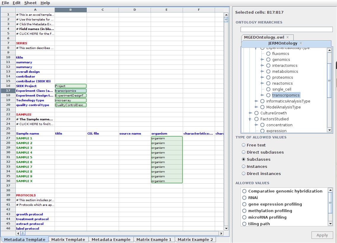 Semantic Spreadsheet Templates | Seek For Science For Data Spreadsheet Templates
