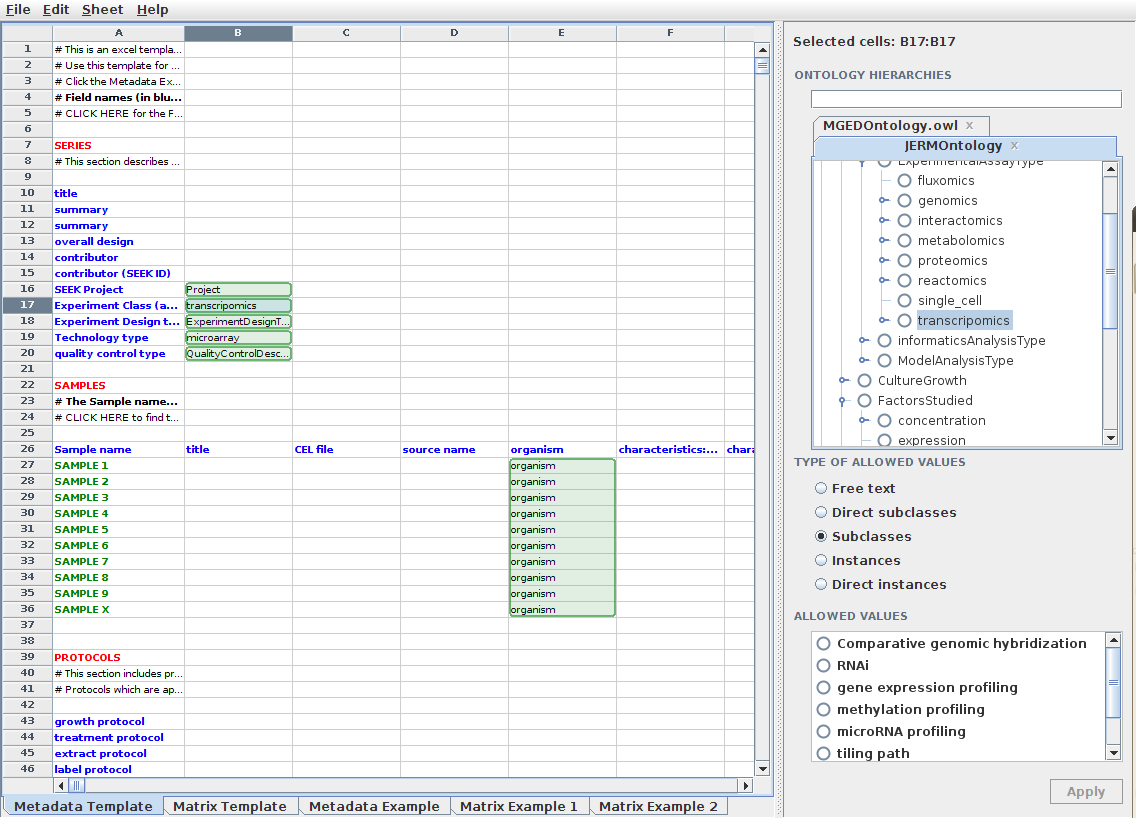 Semantic Spreadsheet Templates | Seek For Science Intended For Data Spreadsheet Template