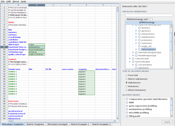 Semantic Spreadsheet Templates | Seek For Science With Excel Spreadsheet Templates