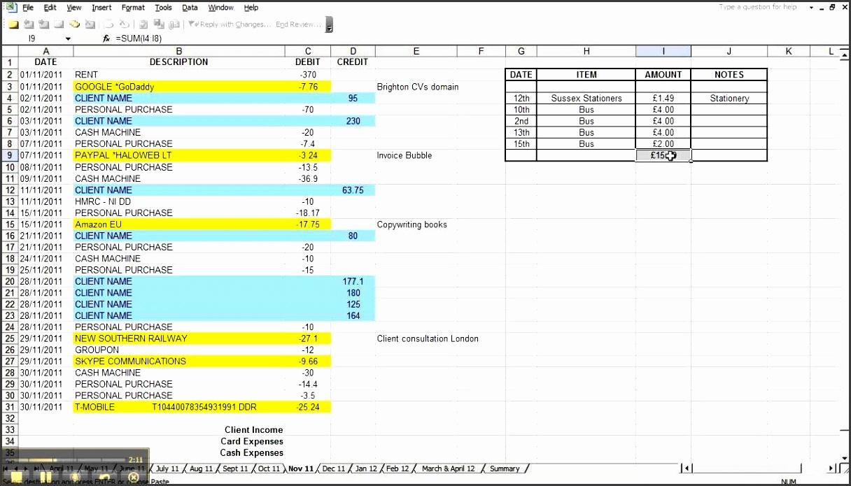Simple Excel Bookkeeping Template   Durun.ugrasgrup In Simple Bookkeeping Spreadsheet Excel