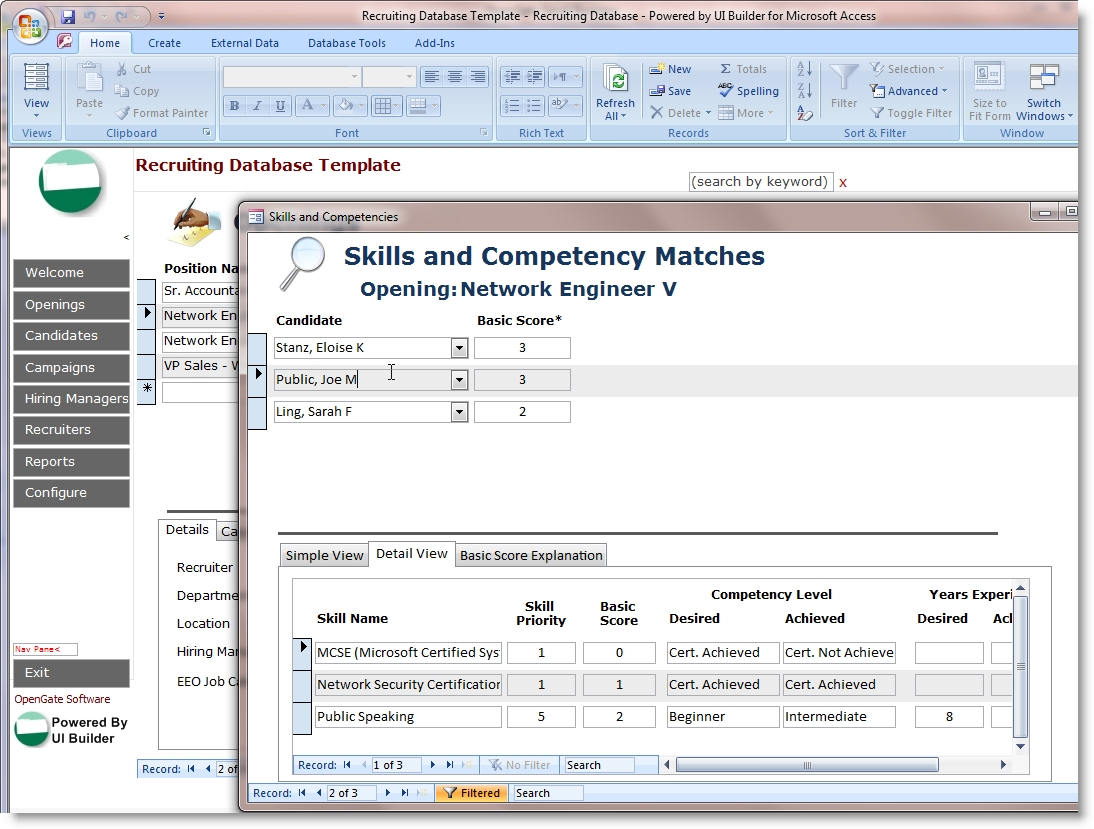 Simple Excel Database Template Archives   Southbay Robot For Microsoft Excel Database Template