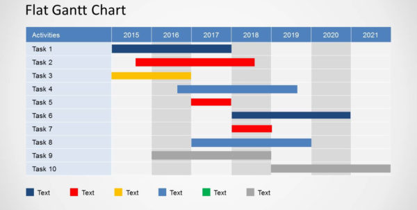Simple Gantt Chart Powerpoint Template   Slidemodel In Gantt Chart Template For Powerpoint