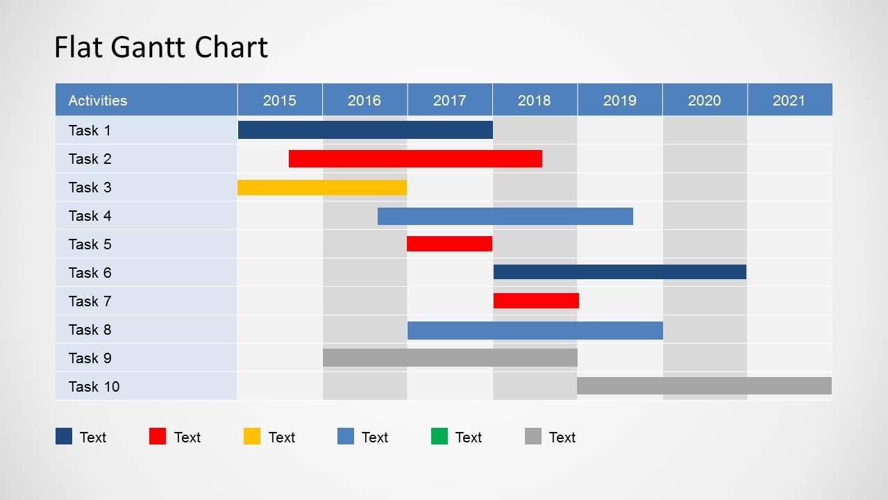 Simple Gantt Chart Powerpoint Template   Slidemodel In Gantt Chart Template For Powerpoint
