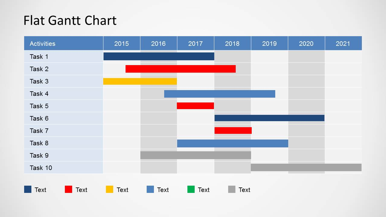 Simple Gantt Chart Powerpoint Template - Slidemodel Intended For Gantt Chart Ppt Template Free Download