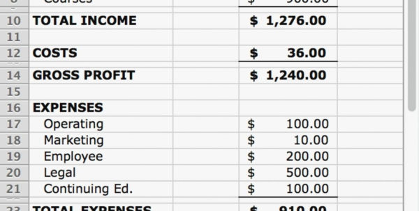 Simple P L Statement Excel And Sheets Occasions Example Business With Excel Profit And Loss Template Excel Profit And Loss Template Example of Spreadsheet