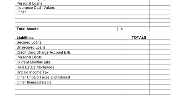 Simple Personal Balance Sheet Example Filename | Books Historical Inside Personal Balance Sheet Template