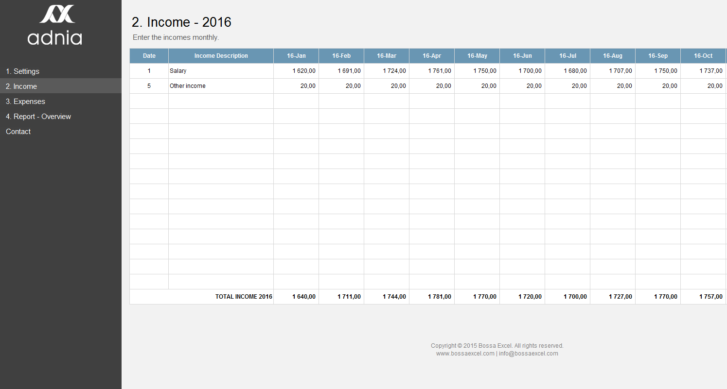 Simple Personal Budget Template | Adnia Solutions Intended For Personal Financial Budget Template