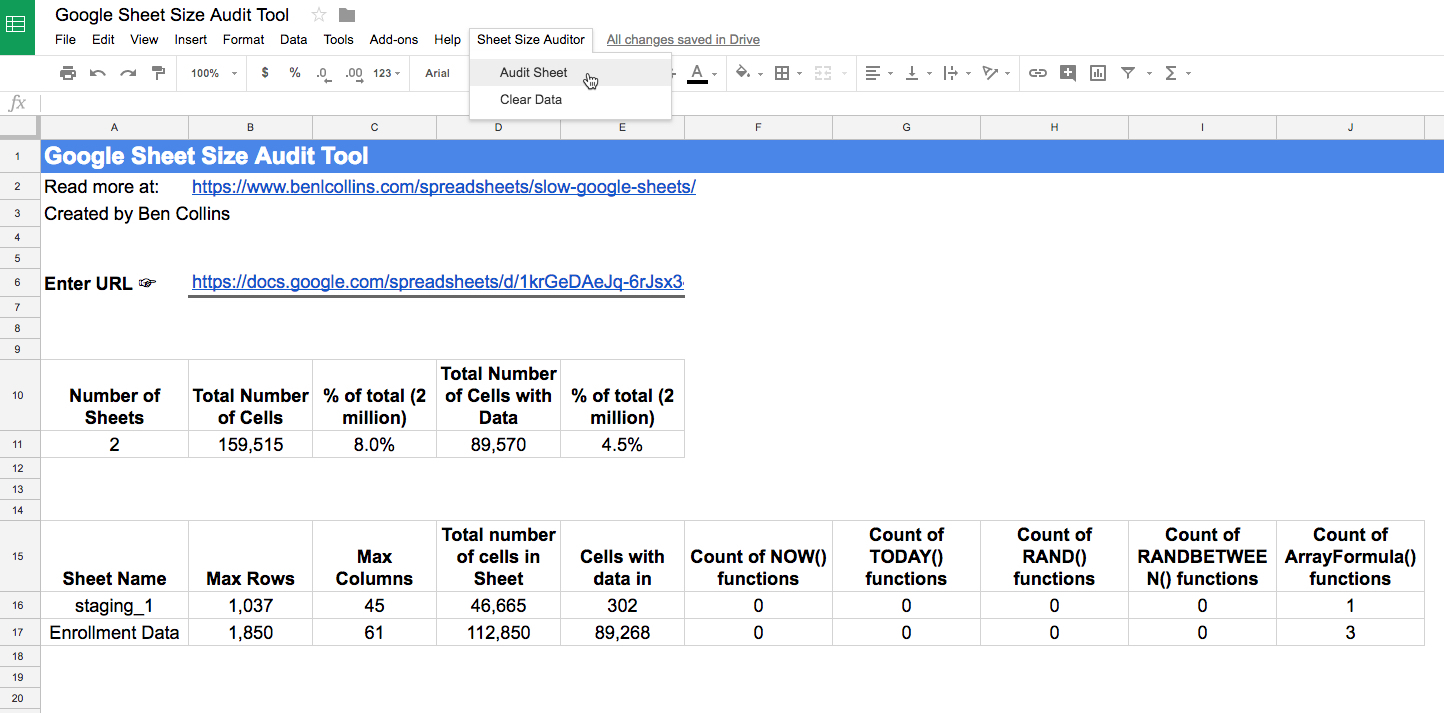 Slow Google Sheets? Here Are 27 Techniques You Can Try Right Now To Google Spreadsheet If
