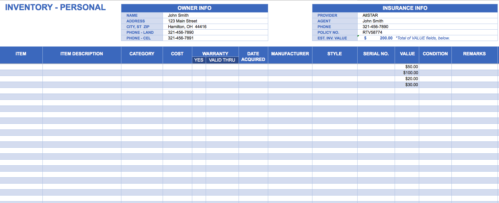 Small Business Inventory Spreadsheet Template   Durun.ugrasgrup Within Inventory Spreadsheet Template