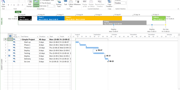 Solutions For Presentation Worthy Gantt Charts And Project Timelines For High Level Gantt Chart Template