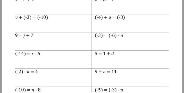 Solving Equations Worksheet Generator   Worksheet House   Worksheet For Worksheet Generator
