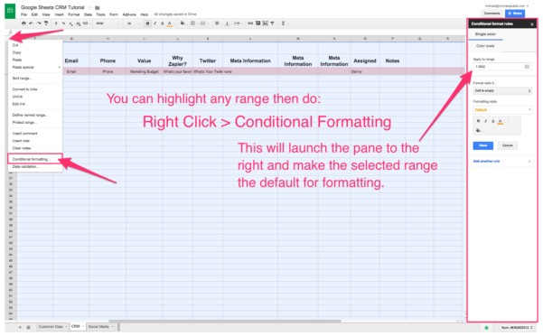 Spreadsheet Crm: How To Create A Customizable Crm With Google Sheets With Customer Relationship Management Excel Template
