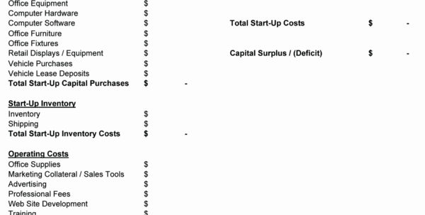 Spreadsheet Example Of Tech Startup Budget Fresh Business Expenses In Business Startup Spreadsheet Template