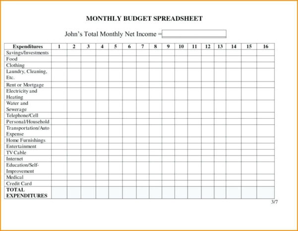 Spreadsheet Template Rental Income Statement Monthly And Expense To Monthly Income Statement