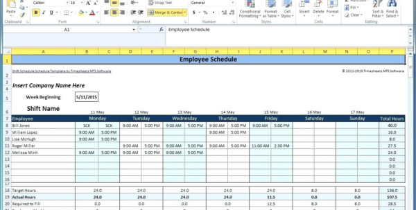 Staffing Schedule Template Inside Monthly Staff Schedule Template Free