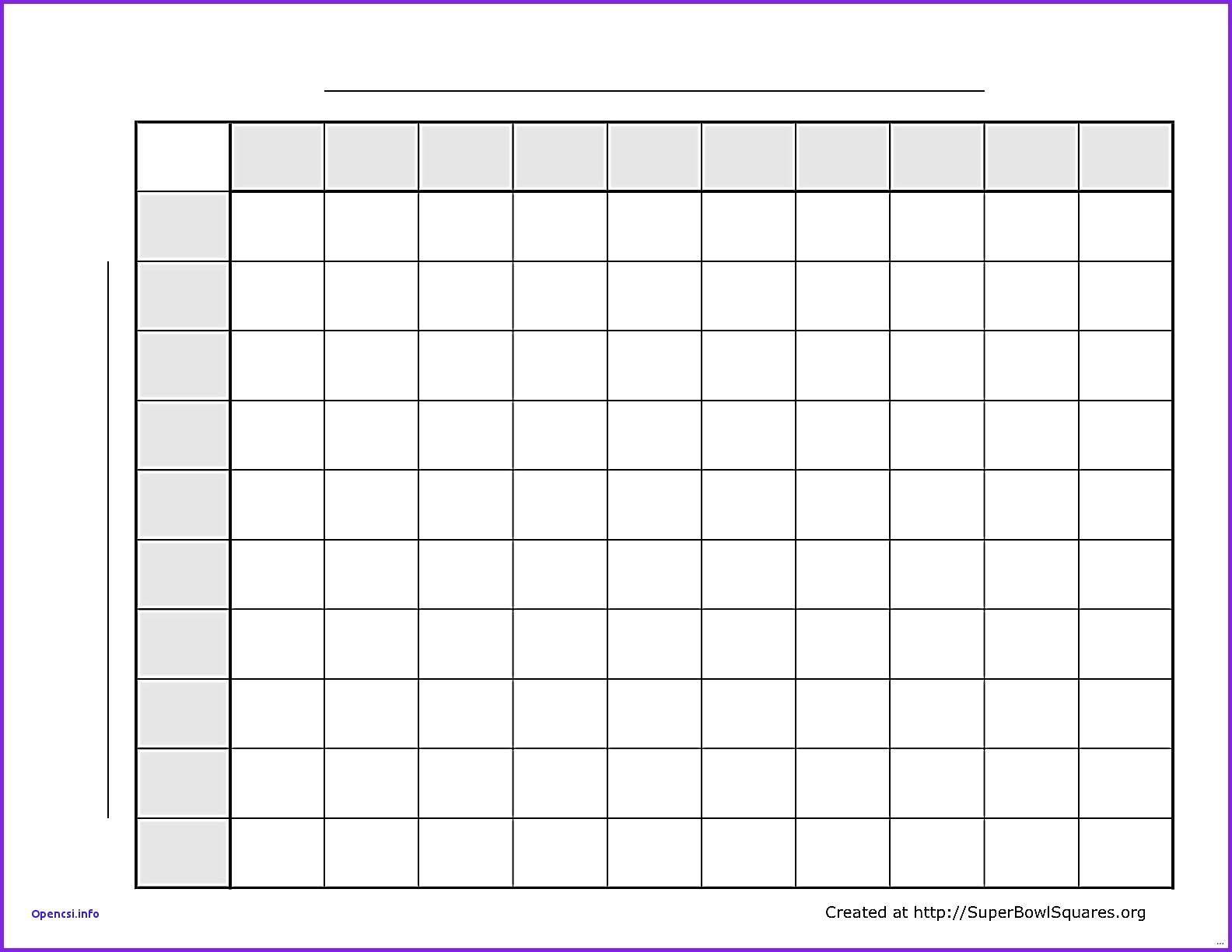 Super Bowl Squares Template Excel – Spreadsheet Collections In Super Bowl Spreadsheet Template
