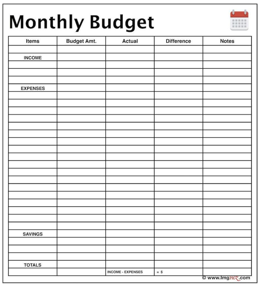 Monthly budget planner template excel example of for Budget preparation template