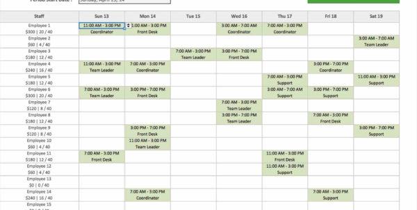 Template Excel Schedule Maker Spreadsheet Template Make Employee In With Excel Spreadsheet Template Scheduling