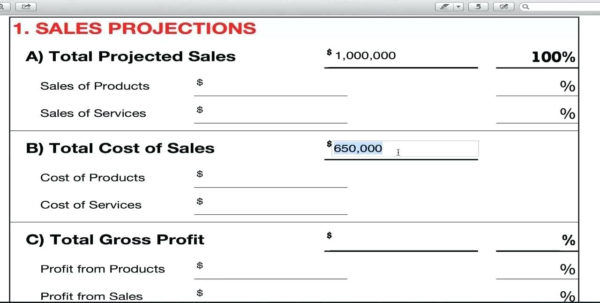 Template: Financial Business Model Template Throughout Sales Forecast Spreadsheet Pdf