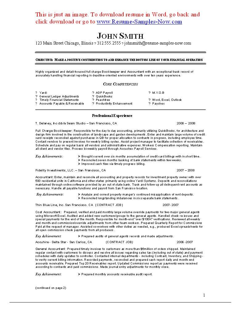 The Best Bookkeeper Resume Sample Bookkeeping   Nguonhangthoitrang Inside Bookkeeping Resume Samples