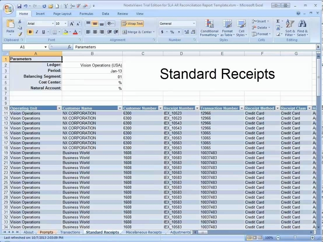 The Receivables Reconciliation Demonstration Spreadsheet – Youtube Inside Accounts Payable Spreadsheet Template