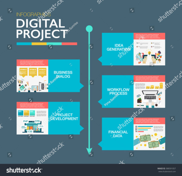 Timeline Infographics Template Material Design Layout Stock Intended For Project Management Design Templates