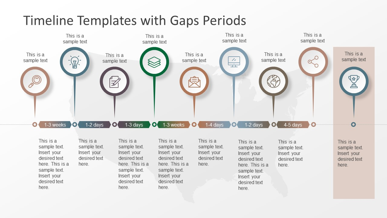 Timeline Templates With Gaps Periods   Slidemodel And Timeline Spreadsheet Template